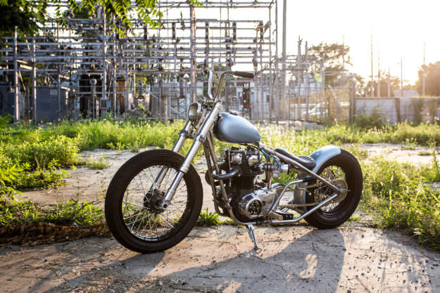 Blue Is The Color: An ice-cool Yamaha XS650 bobber - Weld