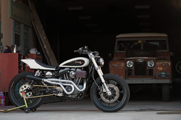 High performance Harley street tracker by Tin Shack Restoration
